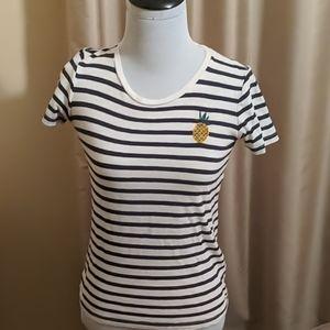 Striped pineapple t shirt